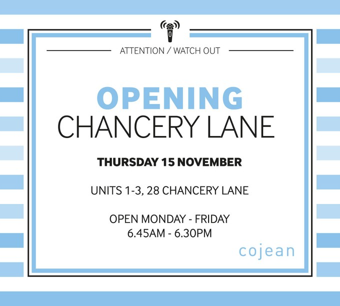 popup opening chancery lane 15/11/18